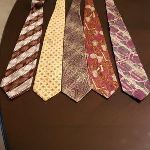 Other - Five men ties.